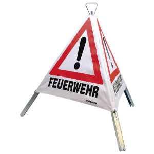 Faltsignal, 700 mm, Tagesleuchtfarbe, Feuerwehr, Unfall,...