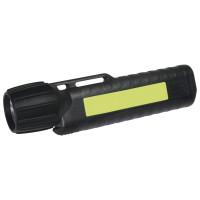 UK Helmlampe 4AA eLED CPO, ES Frontschalter, schwarz, nachl. Streifen