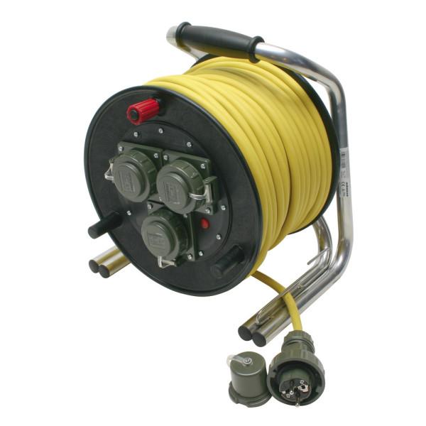 Leitungsroller Feuerwehr 230 V, 16 A, Schuko DIN 14680, 50 m