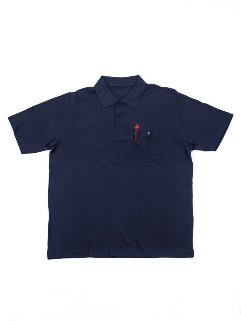 Polo-Shirt mit Flammenstick